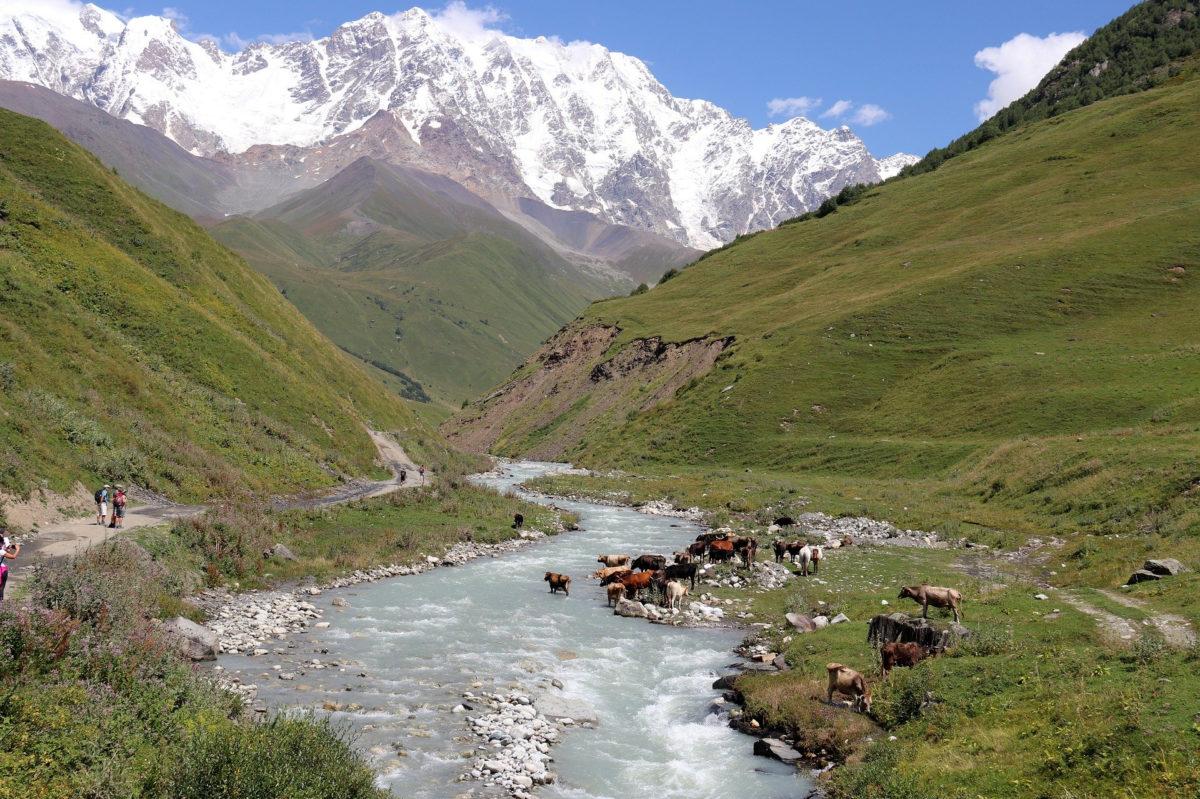 Hochland im Kaukasus